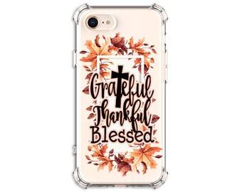 Autumn Thankful Blessed case, iPhone 11, 6 plus, 7, 7 plus, 8, 8 Plus, X, Xs, Xs MAX, XR, Galaxy S8, S8 Plus, S9, s9 plus, Note 8, Note 9