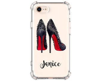 Spiked Heels Case, Shoe Lover Gift, iPhone 7, 7 plus, 8, 8 Plus, X, 11, Xs MAX, XR, Galaxy S8, S8 Plus, S9, s9 plus, Note 8 Note 9 Note 10