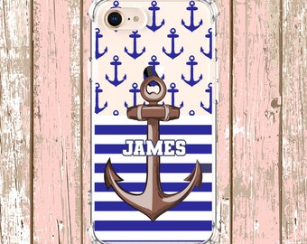 Father's day Anchor iPhone Case, iPhone 7 plus, 8, 8 Plus, X,  Xs MAX, XR,  Galaxy S10, S8 Plus, S9, s9 plus, Note 8, Note 9