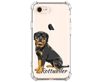 Rottweiler Dog Phone Case, Rottweiler Mom, Rottie, iPhone 8, 8 Plus, X, Xs, Xs MAX, XR, Galaxy S8, S8 Plus, S9, s9 plus, Note 8, Note 9