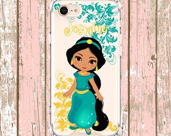 Jasmine Princess Personalized Case, iPhone 6, 6 plus, 7, 7 plus, 8, 8 Plus, X, Xs, Xs MAX, XR, Galaxy S8 Plus, S9, s9 plus, Note 9, S10