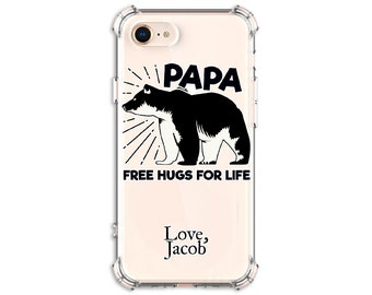 Papa Bear Personalized Phone Case, iPhone 11, iphone 11 pro, 8, 8 Plus, X, Xs MAX, XR, Galaxy S8, S8 Plus, S9, s9 plus, Note 9, Note 10 Plus