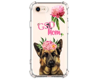 German Shepherd Mom gift, iPhone 6, 6 plus, 7, 7 plus, 8, 8 Plus, X, Xs, Xs MAX, XR, Samsung Galaxy S8, S8 Plus, S9, s9 plus, Note 8, Note 9