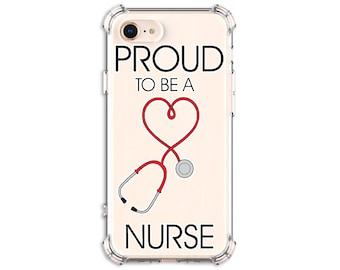 Proud Nurse Heart Case, iPhone 7, 7 plus, 8, 8Plus, X, Xs MAX, XR, 11, 11 pro, Samsung Galaxy S10, S8 Plus, S9, s9 plus, Note 8, Note 9