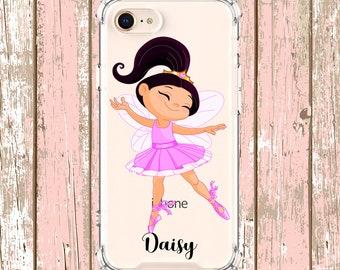Dance Mom Ballerina Girl Case, iPhone 6, 6 plus, 7, 7 plus, 8, 8 Plus, X, Xs, Xs MAX, XR, Galaxy S8, S8 Plus, S9, s9 plus, Note 8, Note 9