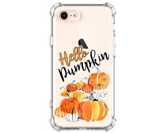 Hello Pumpkin Autumn Phone Case, iPhone 8, 8 Plus, X, Xs MAX, XR, iphone 11, Galaxy S10, S8 Plus, S9, s9 plus, Note 8, Note 9, Note 10