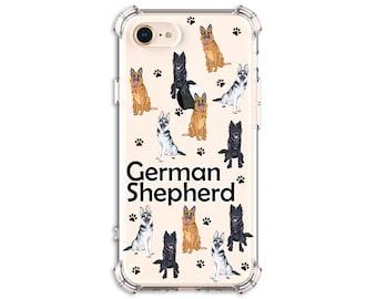 German Shepherd iPhone Case, Gsd Mom, Gsd Dad, iPhone SE, iPhone 11, iPhone XR, iPhone Xs, Galaxy S10, Galaxy S20, Galaxy Note 20