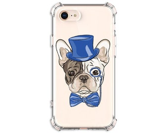 Cute Frenchie Phone Case, French bulldog, Classy Frenchie, iPhone 8, 8 Plus, X, Xs MAX, XR, Galaxy S20, S8 Plus, S9, s9 plus, Note 8, Note 9
