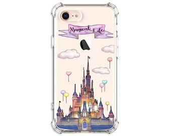 Watercolor Castle iPhone Case, iPhone 6, 6 plus, 7, 7 plus, 8, 8 Plus, X, Xs, Xs MAX, XR, Galaxy S8, S10 Plus, S9, s9 plus, Note 8, Note 9