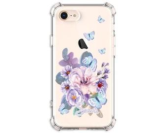 Pretty Watercolor Butterfly Case, iPhone SE, 11 pro, 7, 7 plus, 8, 8 Plus, X, Xs MAX, XR, Galaxy S8, S8 Plus, S9, s9 plus, Note 8, Note 9