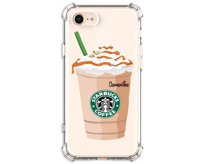 Featured listing image: Personalized Starbucks Frappe, iPhone 12, iPhone 12 pro, 7 plus, 8, 8 Plus, X, Xs MAX, XR, Galaxy S20fe, S9, s9 plus, Note 8, note 20