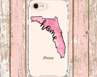 Florida Home State Outline Case, iPhone 8 8Plus X iPhone Xs, Xs max, Xr Samsung Galaxy S8 S8Plus S9 s9 plus Note 8 Note 9