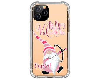 Be my valentine Gnome iPhone Case, iPhone 12, 12 Pro, 8 Plus, X, Xs MAX, XR, 11, 11 pro, Galaxy S20 Fe, S8 Plus, S9, s9 plus, Note 8, Note 9