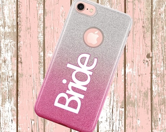 Bride Case with Wedding Date Ombre Hybrid for iPhone Galaxys Alcatel LG Motorola Samsung ZTE