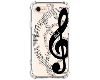 Personalized Music Notes, iPhone 6, 6 plus, 7, 7 plus, 8, 8 Plus, X,  Xs MAX, XR,  Galaxy S8, S8 Plus, S9, s9 plus, Note 8, Note 9
