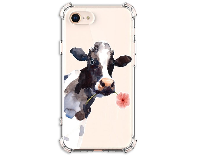 Featured listing image: Watercolor Cute Cow phone Case, iPhone 12, 12 pro max, 8, 8 Plus, X, Xs MAX, XR, iPhone 11, Galaxy S10, S10 Plus, S9, S20fe, Note 8, note 20