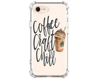Coffee Craft Chill, iPhone se, 6, 6 plus, 7, 7 plus, 8, 8 Plus, X, Xs, Xs MAX, XR, Samsung Galaxy S8, S8 Plus, S9, s9 plus, Note 8, Note 9
