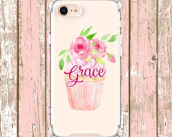 Cupcake Phone Case, iPhone 6, 6 plus, 7, 7 plus, 8, 8 Plus, X, Xs, Xs MAX, XR, Samsung Galaxy S8, S8 Plus, S9, s9 plus, Note 8, Note 9