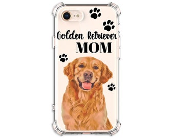 Golden Retriever dog Mom Dog Dad gift, iPhone SE, 8, 8 Plus, X, Xs, Xs MAX, XR, Samsung Galaxy S8, S8 Plus, S9, s9 plus, Note 8, Note 9