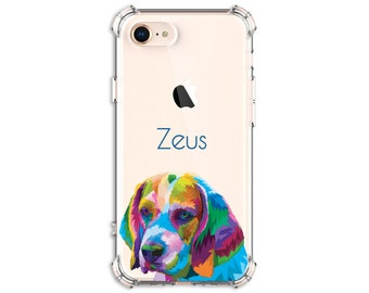 Colorful Beagle Dog Lover Dog Mom iPhone 6, 6 plus, 7, 7 plus, 8, 8 Plus, X, Xs, Xs MAX, XR, Galaxy S10 Plus, S9, s9 plus, Note 8, Note 9