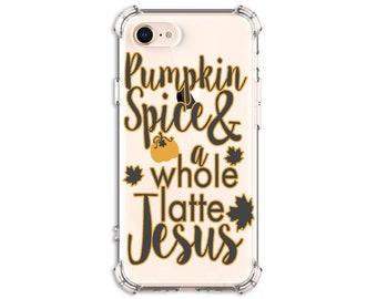 Pumpkin Spice Latte Jesus Phone case, iphone 11, 7 plus, 8, 8 Plus, X, Xs MAX, XR, Samsung Galaxy S8, S8 Plus, S9, s9 plus, Note 8, Note 9