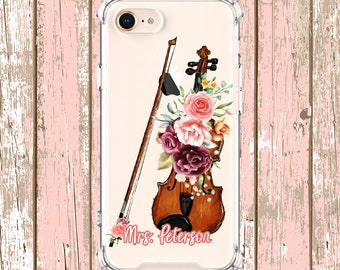 Violin Player Gift Case, iPhone 6, 6 plus, 7, 7 plus, 8, 8 Plus, X, Xs, Xs MAX, XR, Samsung Galaxy S8, S8 Plus, S9, s9 plus, Note 8, Note 9