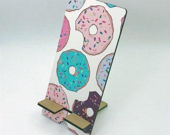 Donut Lover Design Phone Holder, Tablet Holder, Custom Phone stand, Gift for teacher, Birthday Gift, Charging stand