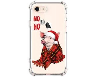 Christmas Hog, Cute pig Case, iPhone 7, 7 plus, 8, 8 Plus, X, Xs MAX, XR, iPhone 11, Galaxy S10, S10 Plus, S9, s9 plus, Note 8, Note 9, 10