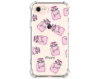 Pink Perfume Lover Case iphone 5, iPhone 7, iPhone 7 plus, iPhone Xs, iPhone XR, iPhone xs max, iPhone X, Galaxy S9, Galaxy S10, S10e