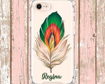 Colorful Feather case, iPhone 6, 6 plus, 7, 7 plus, 8, 8 Plus, X, Xs, Xs MAX, XR, Samsung Galaxy S8, S8 Plus, S9, s9 plus, Note 8, Note 9