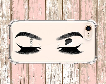 Lashes and Eyebrows Case, iPhone 6, 6 plus, 7, 7 plus, 8, 8 Plus, X, Xs, Xs MAX, XR, Samsung Galaxy S8, S8 Plus, S9, s9 plus, Note 8, Note 9