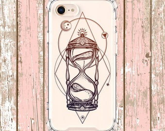 Hourglass Art Design Phone Case, iPhone 6, 6 plus, 7, 7 plus, 8, 8 Plus, X, Xs, Xs MAX, XR, Galaxy S8, S8 Plus, S9, s9 plus, Note 8, Note 9