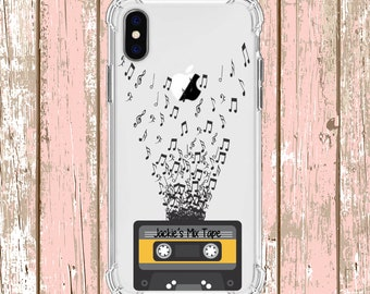 Personalized Mixtape Music Notes, iPhone 6, 6 plus, 7, 7 plus, 8, 8 Plus, X, Xs, Xs MAX, XR, Galaxy S8, S8 Plus, S9, s9 plus, Note 8, Note 9
