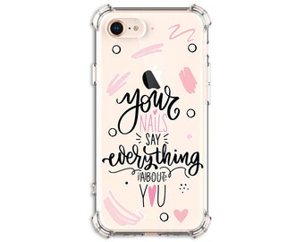 Nails are Everything, Nail addict iPhone 11, 11 Pro, 8, 8 Plus, X, Xs MAX, XR, Samsung Galaxy S8, S8 Plus, S9, s9 plus, Note 8, Note 9