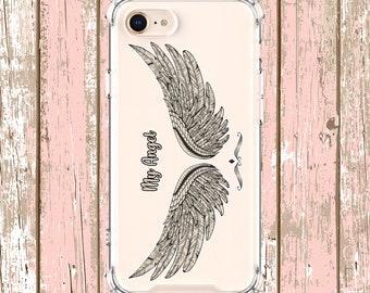Angel Wings Phone Case, iPhone 6, 6 plus, 7, 7 plus, 8, 8 Plus, X, Xs, Xs MAX, XR, Samsung Galaxy S8, S8 Plus, S9, s9 plus, Note 8, Note 9
