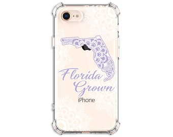 Florida Grown State Mandala iPhone Case, iPhone 11 8Plus X iPhone Xs, Xs max, Xr, Samsung Galaxy S8 S8Plus S9 s9 plus Note 8 Note 9 note 10