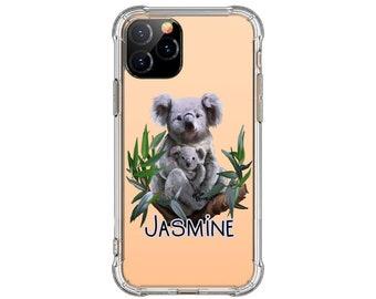 Watercolor Koala personalize iPhone Case, iPhone 11, 7 plus, 8, 8 Plus, XR, iPhone 11, Galaxy S10, S10 Plus, S9, s9 plus, Note 8, Note 9, 10