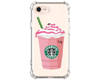 Starbucks Strawberry Frappe, iPhone 12, iPhone 12 pro, 7 plus, 8, 8 Plus, X, Xs MAX, XR, Galaxy S20fe, S9, s9 plus, Note 8, note 20