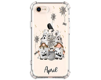 Halloween Gnome, Personalized Fall gnomes and pumpkin Case, iPhone 8, 8 Plus, Xs MAX, XR, 11, Galaxy S10, S8 Plus, S9, Note 8, Note 9, S21
