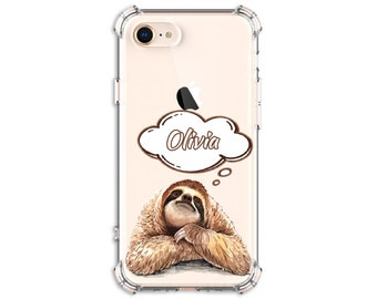 Sloth day dreaming personalize Case, iPhone 11, 7 plus, 8, 8 Plus, X, Xs MAX, XR, iPhone 11, Galaxy S10, S9, s9 plus, Note 8, Note 9, 10