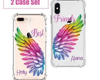 Best Friend wings set, iPhone SE, 6, 7, 7 plus, 8, 8 Plus, X, Xs, Xs MAX, XR, Samsung Galaxy S10, S8 Plus, S9, s9 plus, Note 8, Note 9
