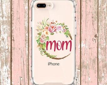 Mom Flower Wreath Case Gift, iPhone 6, 6 plus, 7, 7 plus, 8, 8 Plus, X, Xs, Xs MAX, XR, Galaxy S8, S8 Plus, S9, s9 plus, Note 8, Note 9