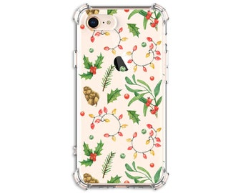 Christmas Lights Phone Case, iPhone 11, 11 pro, 11 pro Max, 8, 8 Plus, X, Xs MAX, XR, Galaxy S8, S8 Plus, S9, s9 plus, Note 8, Note 9