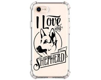 I Love my Shepherd, German Shepherd, GSD iPhone Case, Gsd Mom, Gsd Dad, iPhone SE, iPhone 12, iPhone XR, Galaxy S20, Galaxy Note 20
