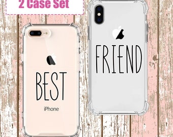 Best Friends Couples Phone set, iPhone 6, 6 plus, 7, 7 plus, 8, 8 Plus, X, Xs, Xs MAX, XR, Galaxy S8, S8 Plus, S9, s9 plus, Note 8, Note 9