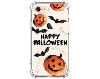 Halloween Bats Pumpkin Phone Case, iPhone 8, 8 Plus, X, Xs MAX, XR, iphone 11, Galaxy S10, S8 Plus, S9, s9 plus, Note 8, Note 9, Note 10