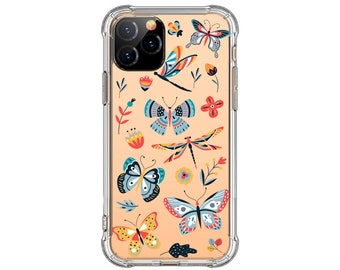 Colorful Butterfly iPhone case, iPhone 11, 12 Pro, 8, 8 Plus, Xs MAX, XR, Galaxy S20, S20 fe, A20, Note 20, Note 20 Ultra, Note 9, S9 Plus