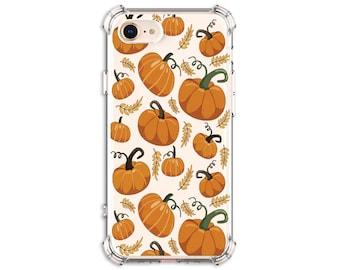 Pumpkin Pattern Phone Case, Pumpkin spice, iPhone 8, X, Xs MAX, XR, iphone 11, Galaxy S10, S8 Plus, S9, s9 plus, Note 8, Note 9, Note 10