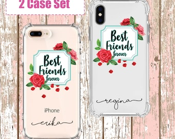 Best Friend forever set, iPhone SE, 6, 7, 7 plus, 8, 8 Plus, X, Xs, Xs MAX, XR, Samsung Galaxy S10, S8 Plus, S9, s9 plus, Note 8, Note 9