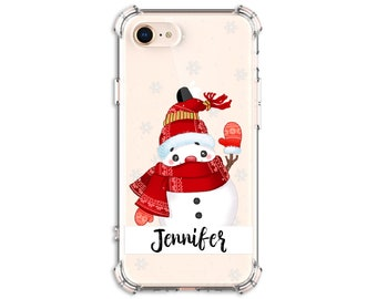 Christmas iPhone case, Snowman iPhone, iPhone 12, iPhone 12 Pro, 12 Pro max, 8, 8 Plus, X, Xs MAX, XR, Galaxy s9 plus, Note 8, Note 9, S10